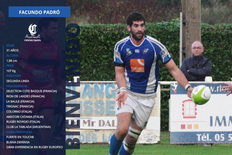 Facundo Padró cuarta incorporación del Ciencias Cajasol
