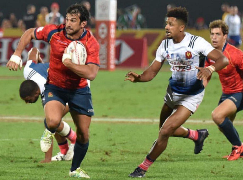Javi de Juan en las HSBC Sevens World Rugby