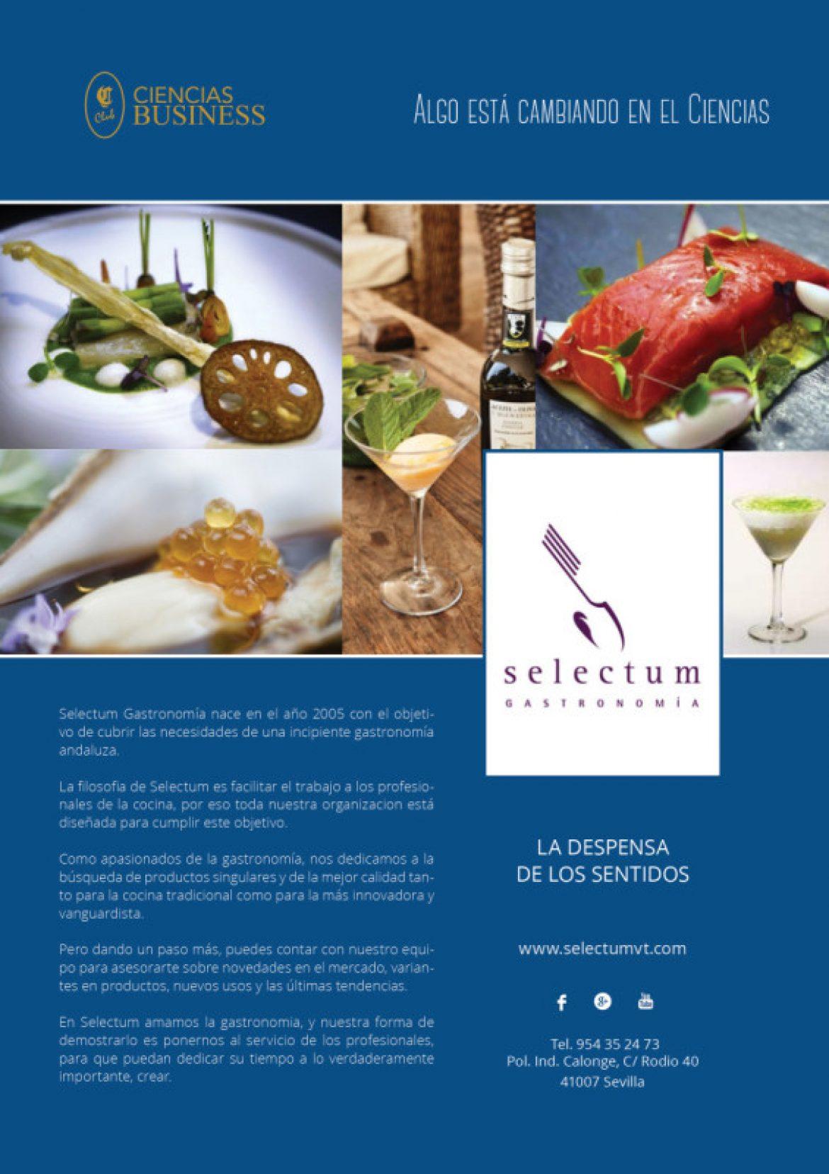 Ciencias Business. Selectum Gastronomía
