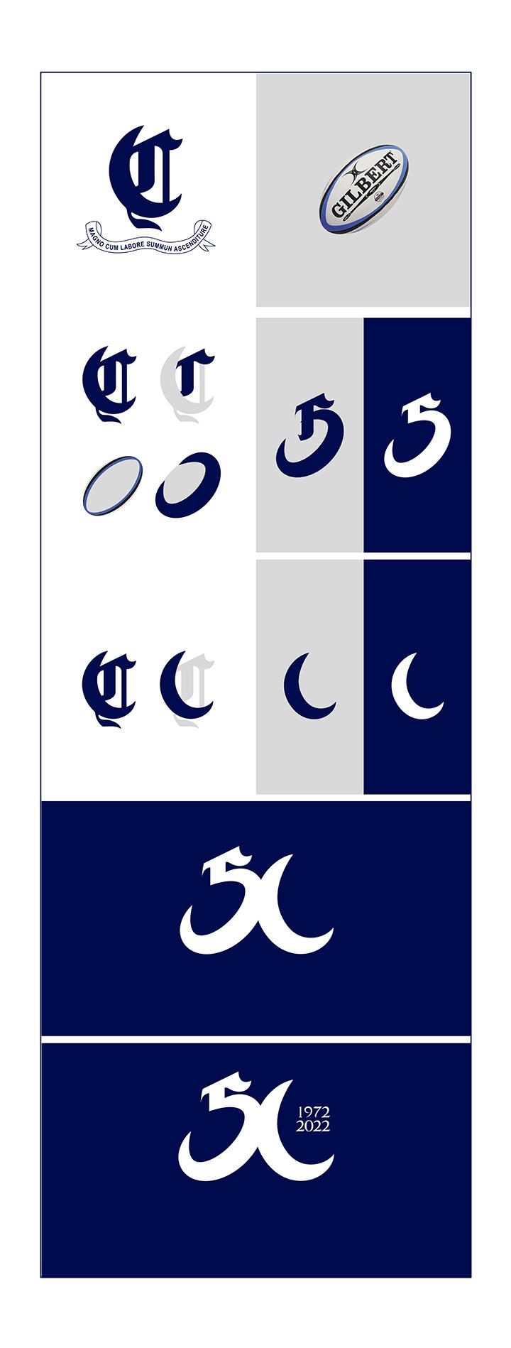 ciencias rugby sevilla cincuentenario construccion logo