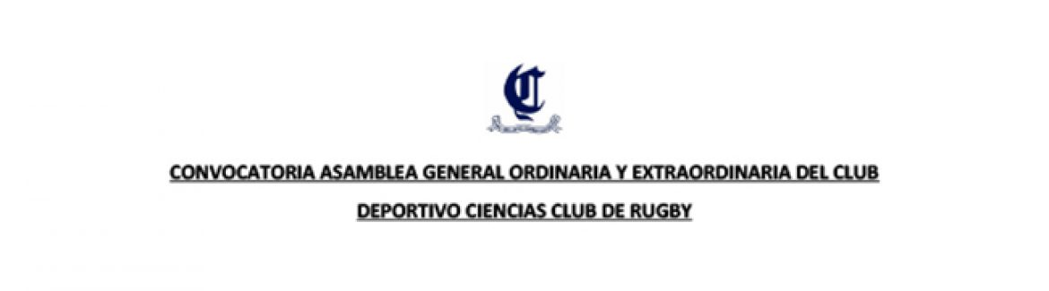 Convocatoria Asamblea General del club