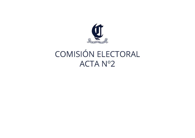 Comisión electoral. Acta nº2