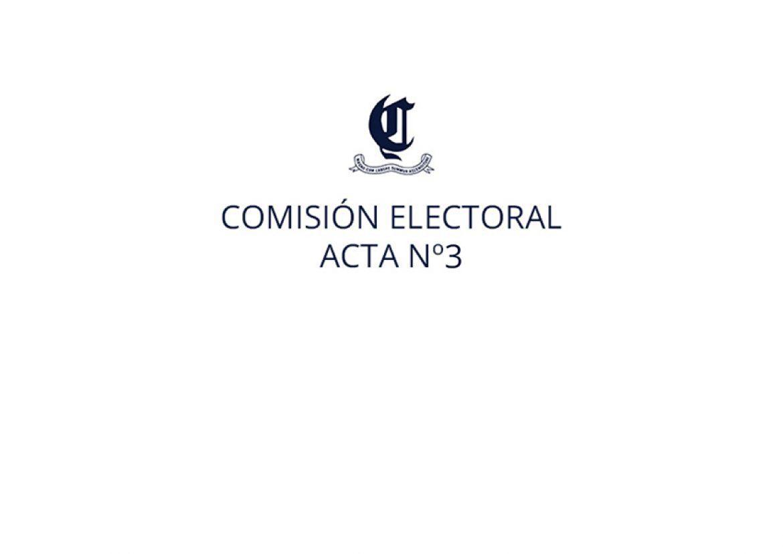 Comisión electoral. Acta nº3