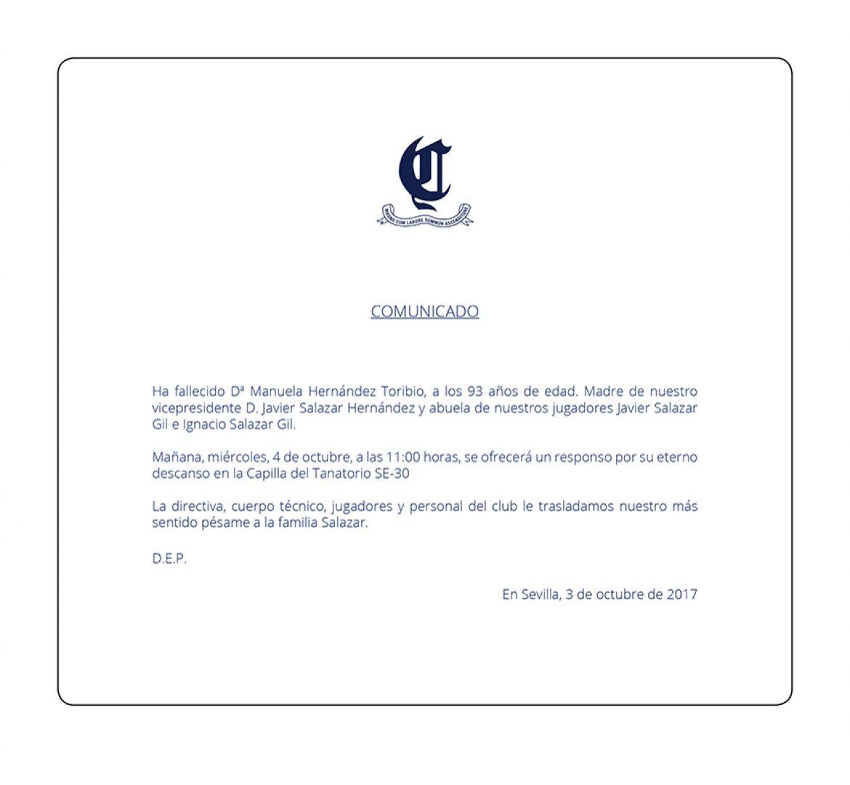 Fallece Dª Manuela Hernández Toribio