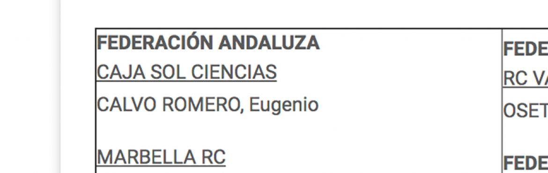 Eugenio Calvo a la Selección Nacional 7´s Sub 18